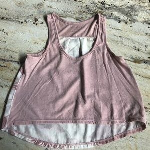 AEO pink crop top with flower back